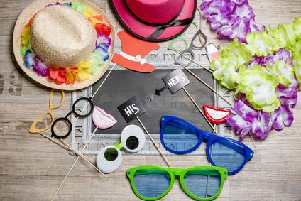 witzige Fotobox Artikel - Brillen und Hüte